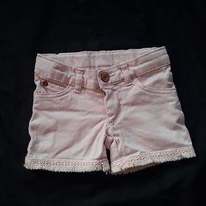 Light pink denim shorts 2T